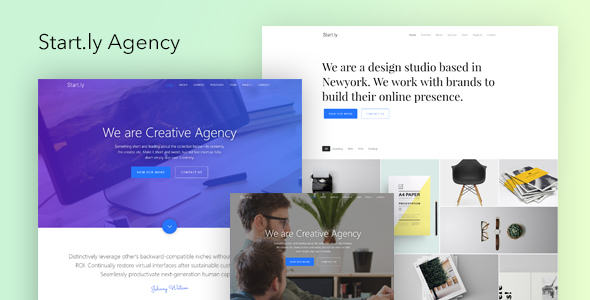 Start.ly — Agency One Page Parallax Website Template