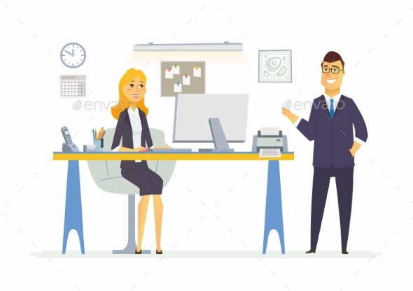 GraphicRiver Office Life Modern Vector Cartoon Business 20513637