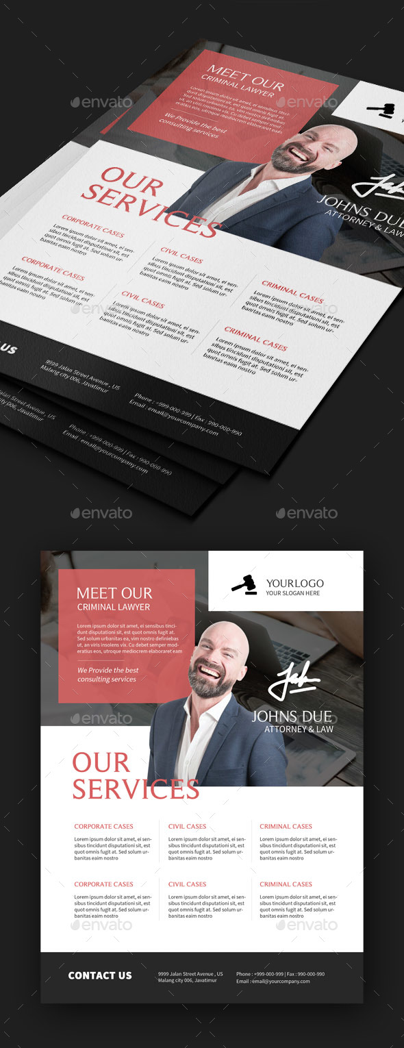 GraphicRiver Law Firm Flyers 20513674