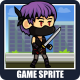 The Kunoichi Ninja Girl 2D Game Character Sprite