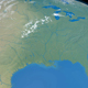 Florida, Mexico Gulf and Mississippi River in Planet Earth