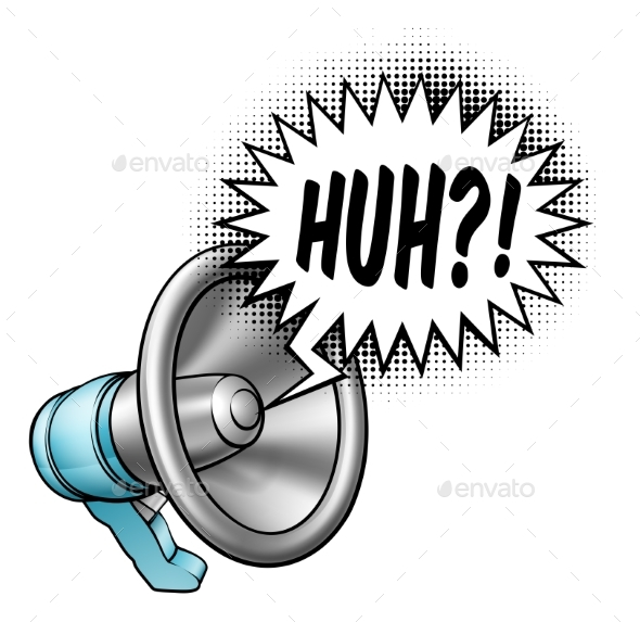 Megaphone Speech Bubble Concept - Miscellaneous Vectors
