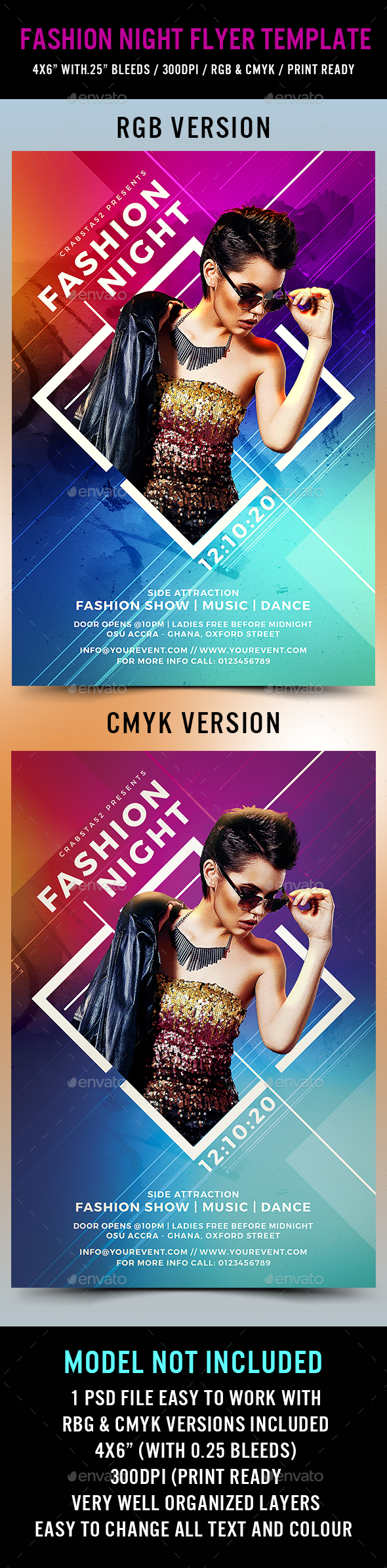 Fashion Night Flyer Template - Events Flyers