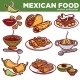 Mexican Food Cuisine Traditional Dishes Vector