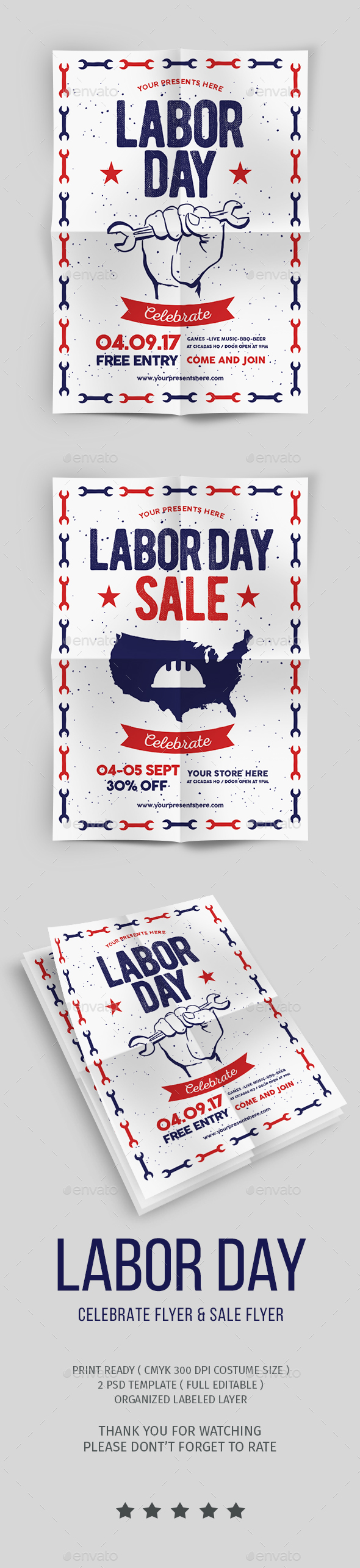 Labor Day Flyer & labor Day Sale Flyer - Events Flyers