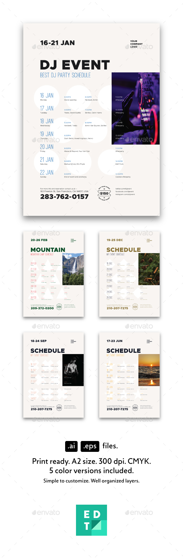 Schedule Event Poster Template - Events Flyers