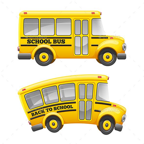 GraphicRiver Retro School Bus 20514218