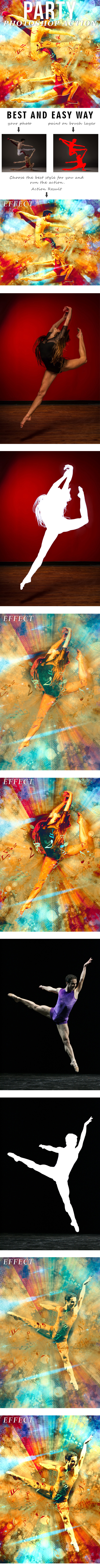 Party Photoshop Action - Photo Effects Actions