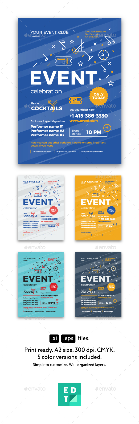 Multipurpose Poster Template, Vol.5 - Events Flyers