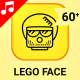 Lego Toy Face Animation - Line Icons and Elements