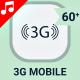 3G 4G 5G LTE Mobile Internet Technology Animation - Line Icons and Elements