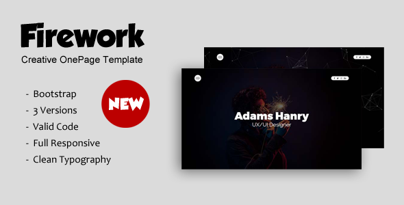 Firework - Creative OnePage Template. - Creative Site Templates