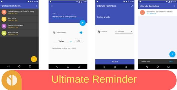 CodeCanyon Ultimate Reminder Todo App 20514632