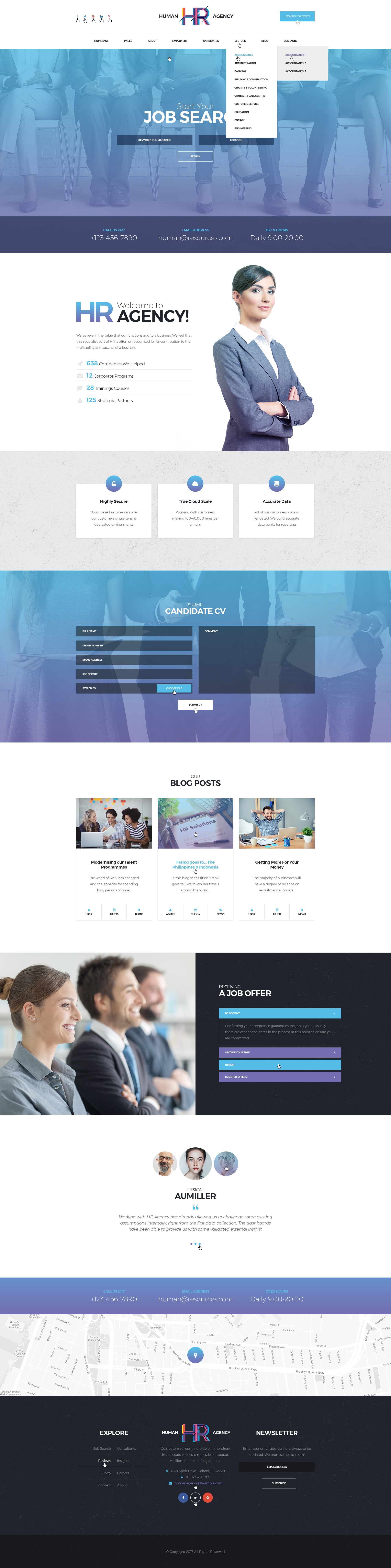 human agency human resources psd template by mwtemplates themeforest