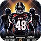 Futuristic College Football Flyer - GraphicRiver Item for Sale