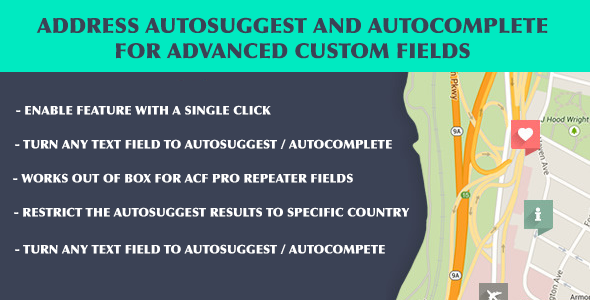 ACF Address Autosuggest and Autocomplete - CodeCanyon Item for Sale