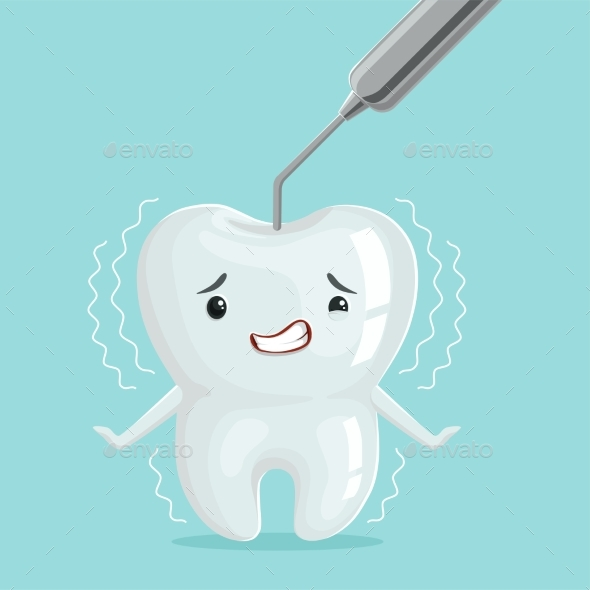 GraphicRiver Cartoon Tooth Character with Dentist 20515085