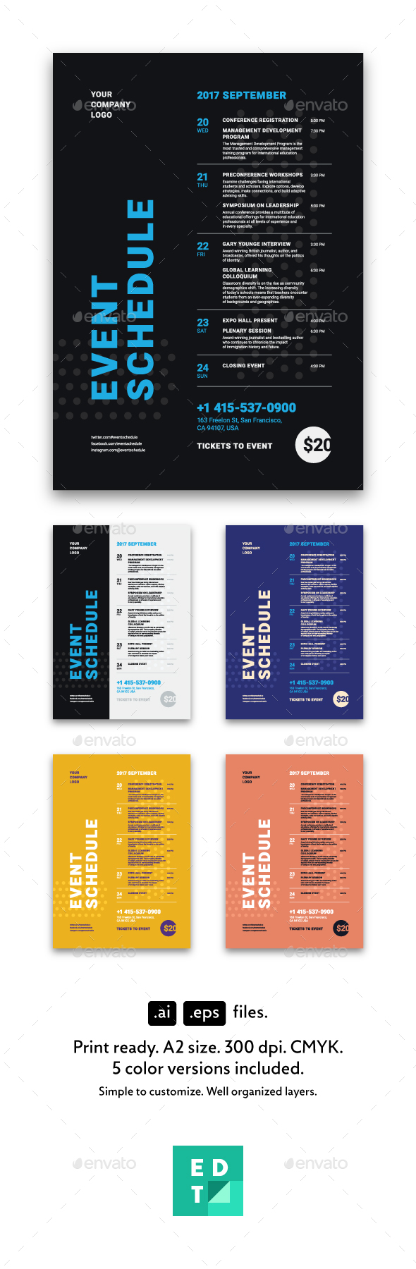 Schedule Event Poster Template, Vol3 - Events Flyers