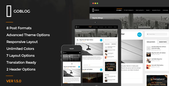 GoBlog - Responsive WordPress Blog Theme - Personal Blog / Magazine