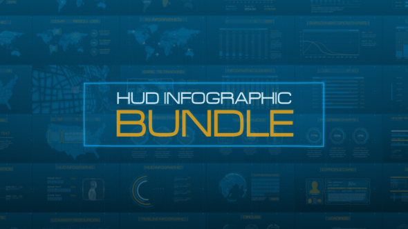 HUD Infographic Bundle (Infographics) After Effects