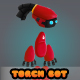 Torch Bot 2D Character - GraphicRiver Item for Sale
