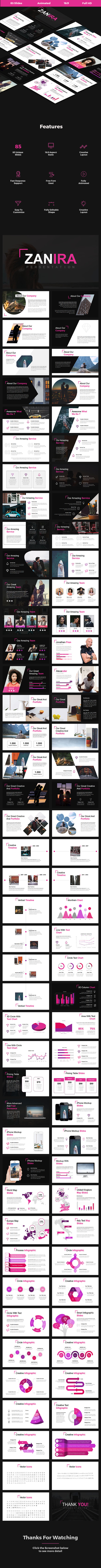 Zanira - Creative Google Slides Template - Google Slides Presentation Templates