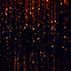 Abstract Gold Particles Glitter Rain 4k