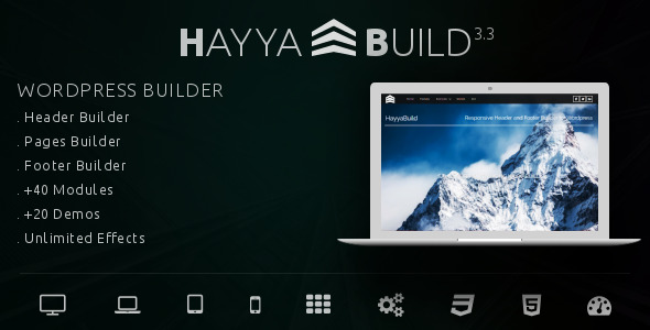 HayyaBuild - WordPress Header, Footer and Page Builder - CodeCanyon Item for Sale