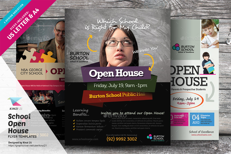 Screenshots/01_graphic River School Open House Flyers Kinzi 21 ...  Open House Flyers