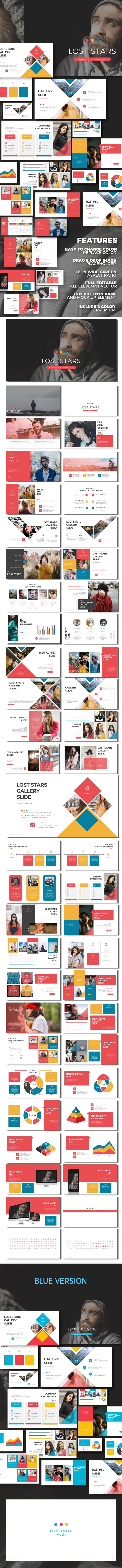 Lost Stars - Google Slide Presentation Templates - Google Slides Presentation Templates