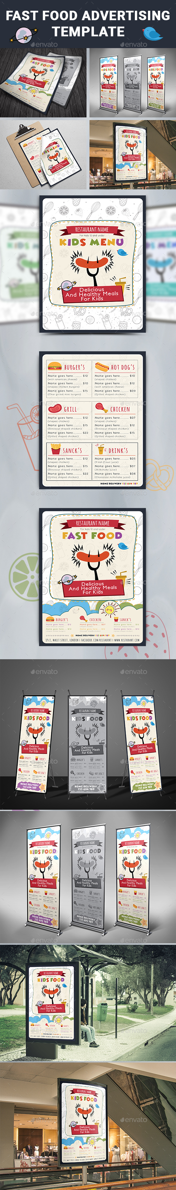 GraphicRiver Fast Food Advertising Template 20515900