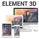 Element 3D - Apple Devices Collection - 3DOcean Item for Sale