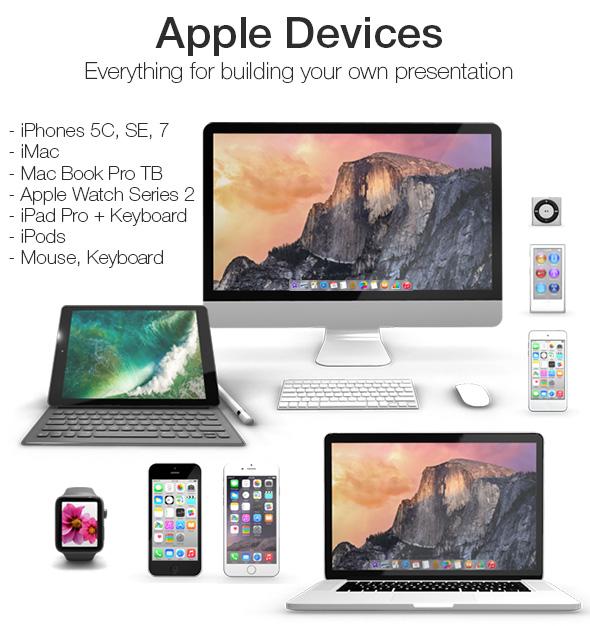 Element 3D - Apple Devices Collection - 3DOcean Item for Sale