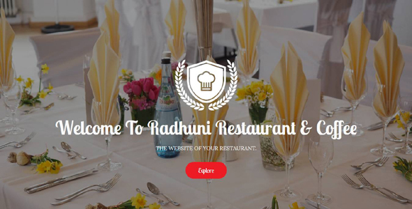 Radhuni - Restaurant & Coffee Template - Food Retail
