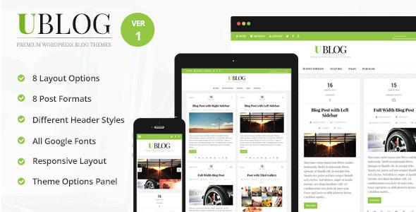 UBlog - Responsive WordPress Theme for Bloggers