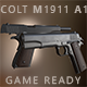 Colt 1911 A1 Pistol (Low Poly) - Game Ready Asset - 3DOcean Item for Sale