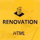 Renovation – Construction and Renovation HTML Template - ThemeForest Item for Sale