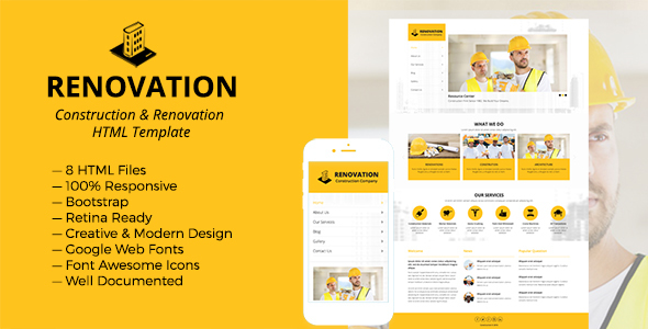 Renovation – Construction and Renovation HTML Template