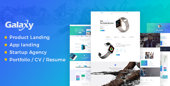 Galaxy - One Page Multipurpose Template