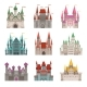 Fairytale Old Medieval Castles or Palaces