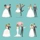 Married Couple Characters Set. Wedding Mascot