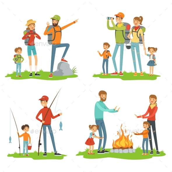 GraphicRiver Family Hiking 20516564