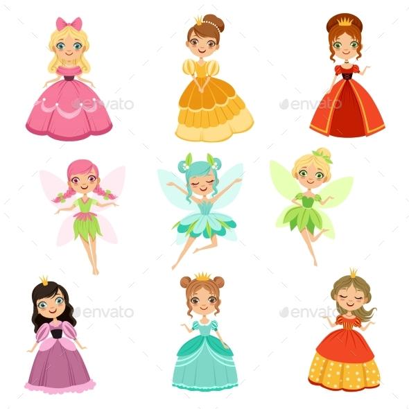 GraphicRiver Cartoon Fantasy Princesses 20516603