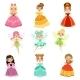 Cartoon Fantasy Princesses