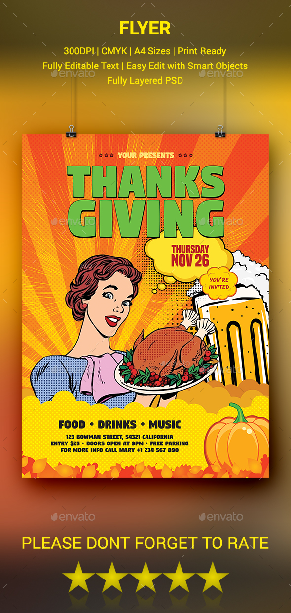 GraphicRiver Thanksgiving Day Flyer 20516896