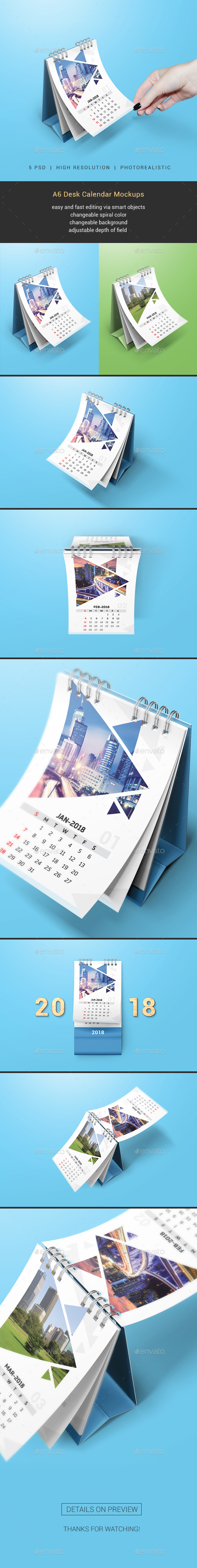 GraphicRiver Desk Calendar Mockups 20516927