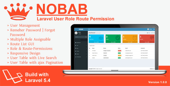 Nobab - Laravel User Role Route Permission - CodeCanyon Item for Sale