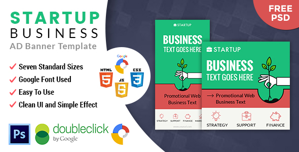 CodeCanyon StartUp Business HTML 5 Animated Google Banner 20516960