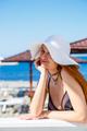 Charming flirty woman on beach - PhotoDune Item for Sale