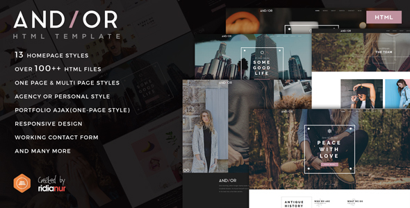 Download Free Andior - Responsive One Page & Multi Page Portfolio Template